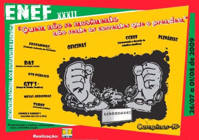 Cartaz de Divulgação do XXXII ENEF
